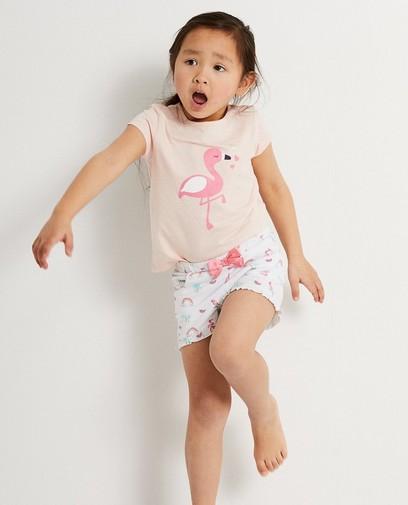 Pyjama rose estival en coton bio
