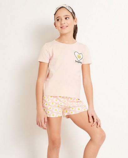 Pyjama + slaapmasker van biokatoen
