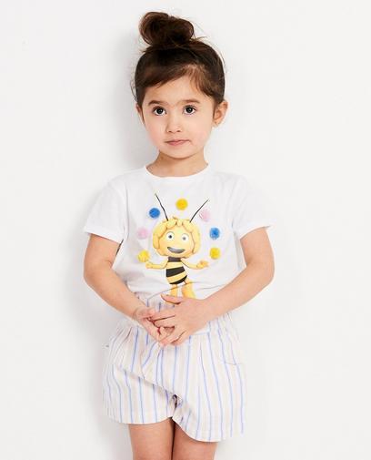 Wit T-shirt met print Maya