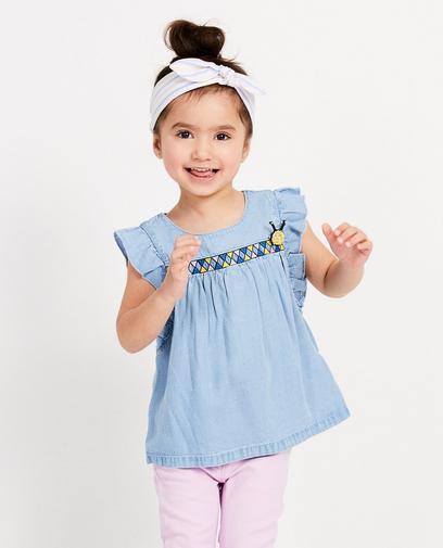 Blauw T-shirt van lyocell Maya