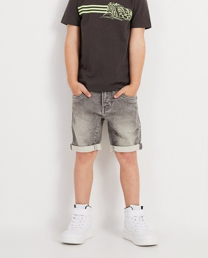 Grijze short van sweat denim Rox
