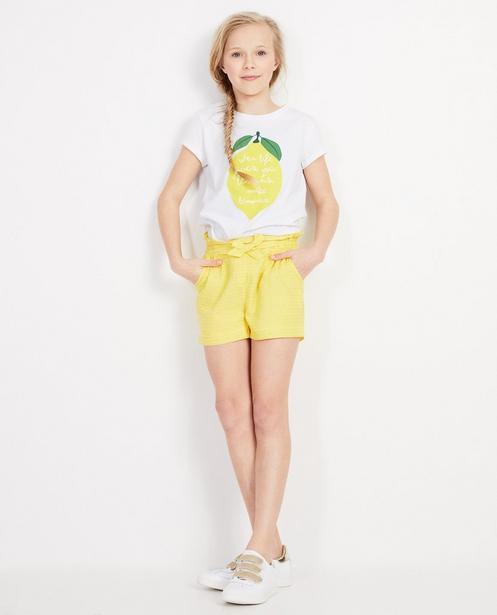 Gelbe Shorts mit güldenen Streifen - Mit Metallfaden - JBC