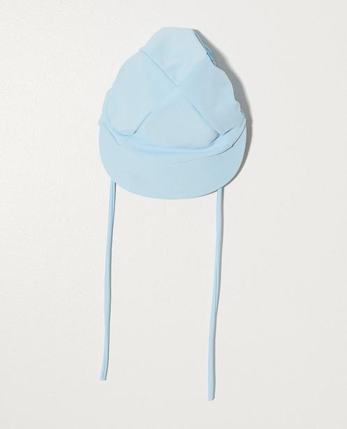 Chapeau en matière maillot - bleu uni - JBC