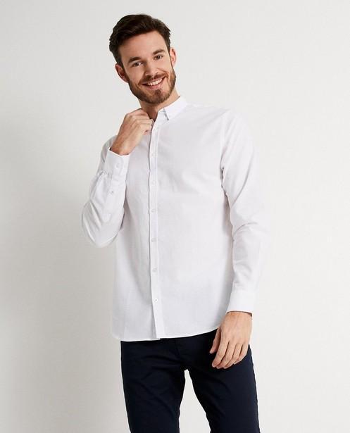 Blauw hemd comfort fit - linnen - Iveo