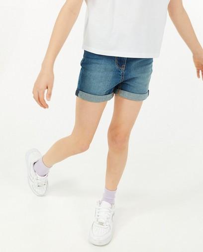 Blauwe jeansshort