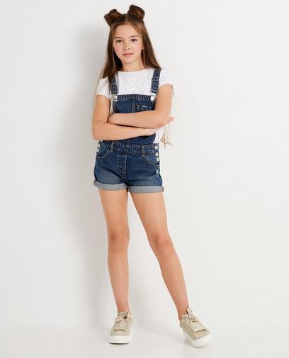 Korte blauwe jeanssalopette