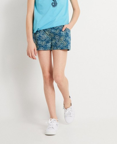 Petrolblauwe short met print I AM