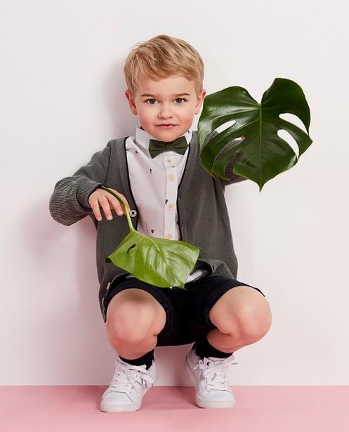 Cardigans - dark green - Kaki gebreide vest met knopen