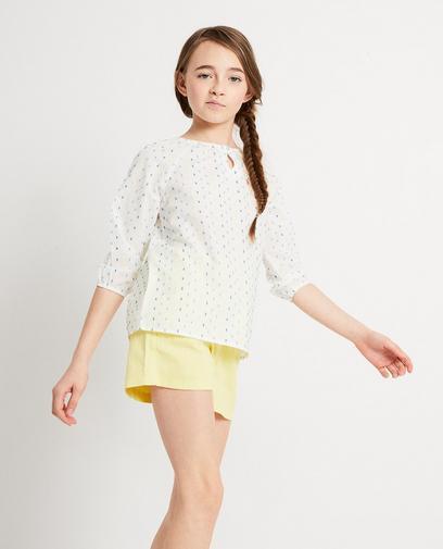 Witte blouse van katoen I AM
