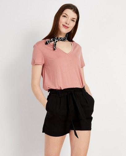 Roze T-shirt van lyocell