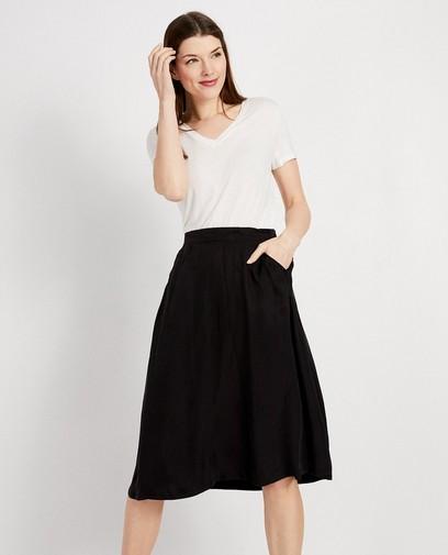 Wit T-shirt van lyocell