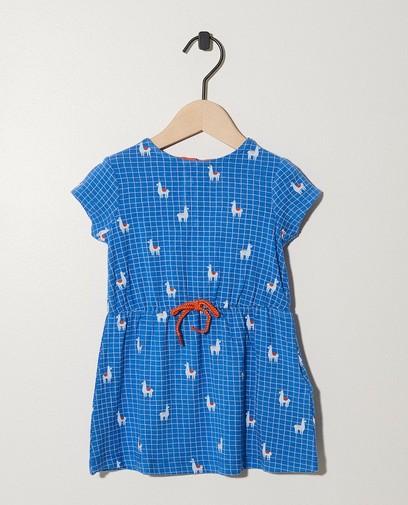 Blauw jurkje met knooplint