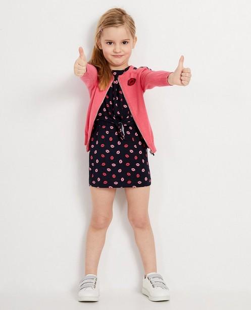 Roze vest met blauwe pailletten K3 - Met rits - K3