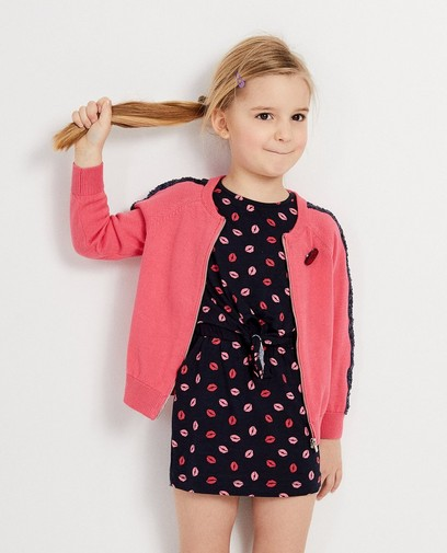 8c3f6878fe2aab Roze vest met blauwe pailletten K3