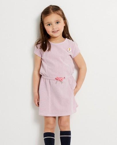 Wit jurkje met roze strepen Kaatje