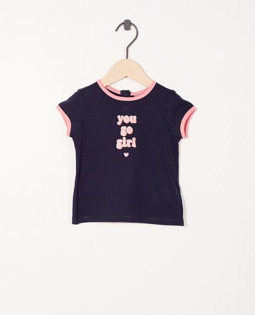T-shirt à message - coton bio - JBC
