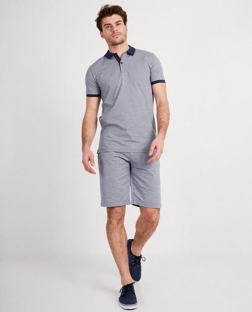 Polo met print Slim fit  - In donkerblauw - Iveo