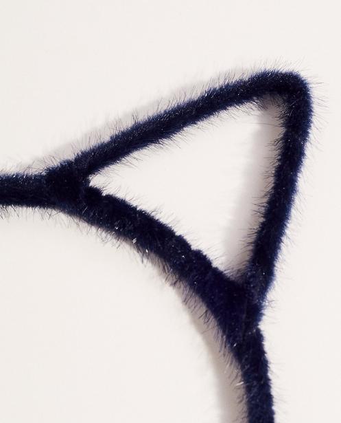 Strickware - Navy - Diadem mit Katzenöhrchen