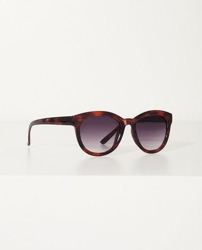 Bruine zonnebril met dierenprint