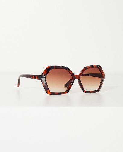 Bruine retro zonnebril