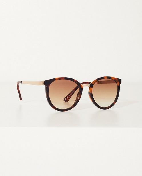 Bruine zonnebril - Met gouden accent - JBC