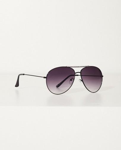 Zwarte aviator zonnebril