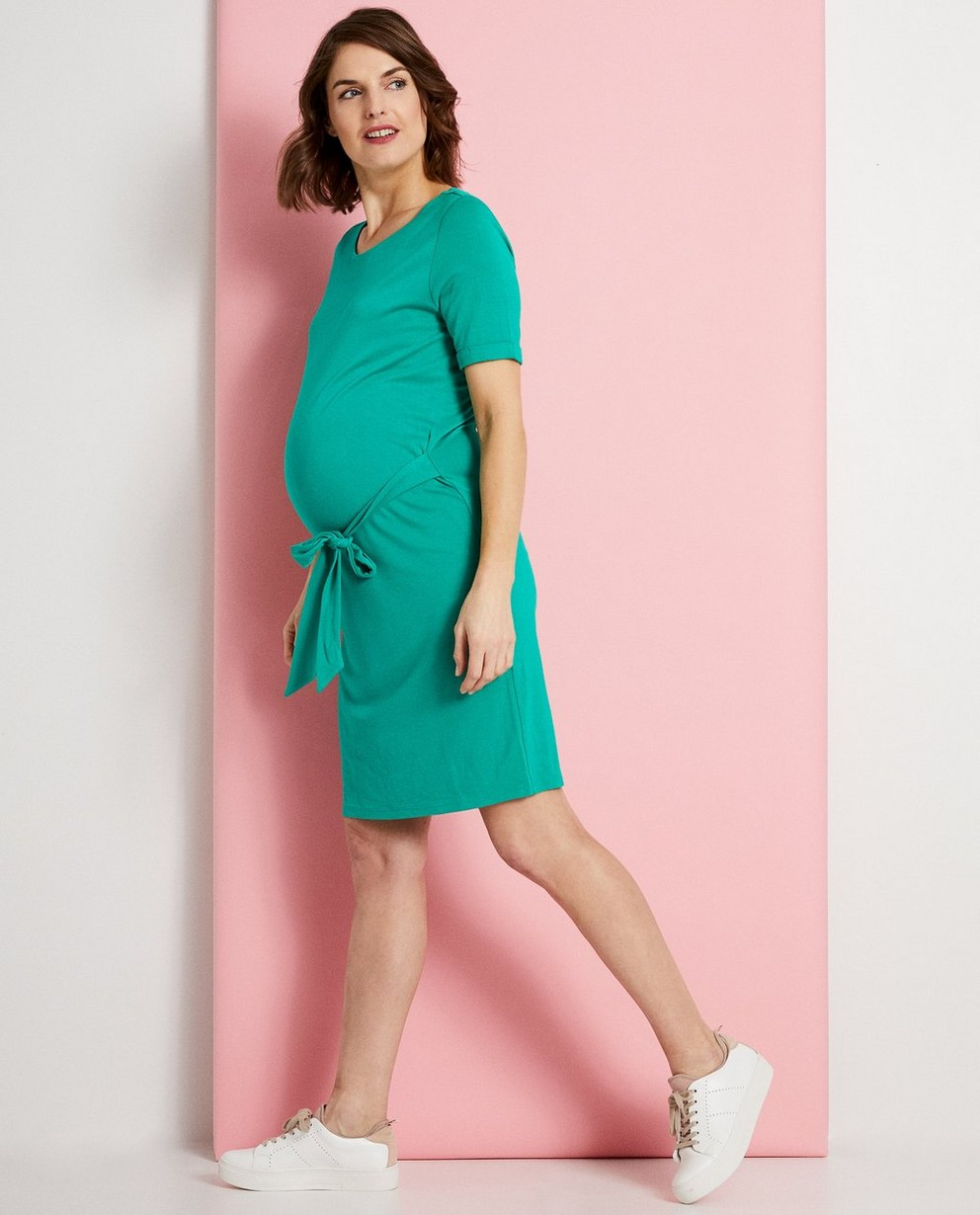 Groene zwangerschapsjurk - bevat viscose - Joli Ronde