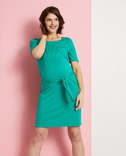 Groene zwangerschapsjurk