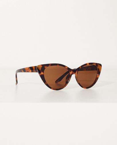 Bruine tortoise cateye zonnebril