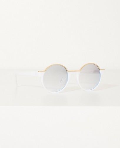 Wit-gouden zonnebril