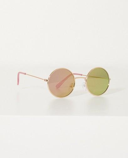 Ronde metalen zonnebril