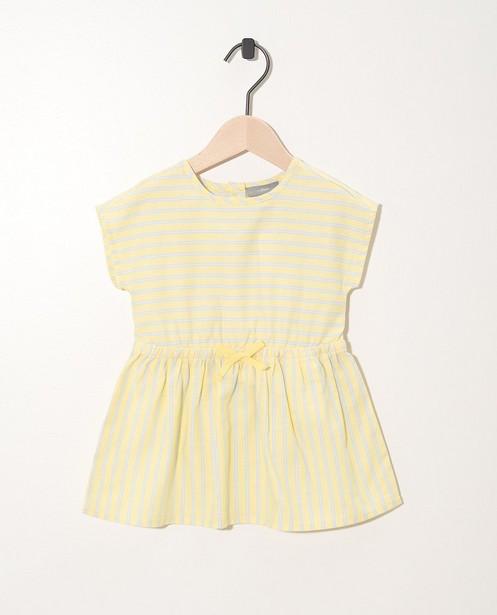 Robe jaune, rayée bleue et blanche - taille élastique - JBC