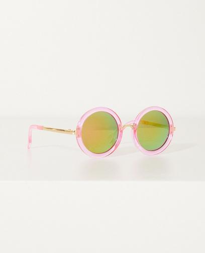 Ronde roze zonnebril