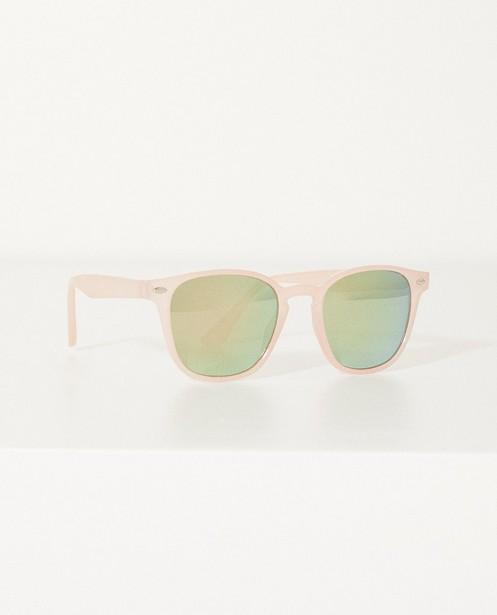 Zonnebril met spiegeglazen - en roze montuur - JBC