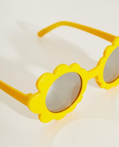 Zonnebrillen - GLM - Gele zonnebril in bloemetjesvorm