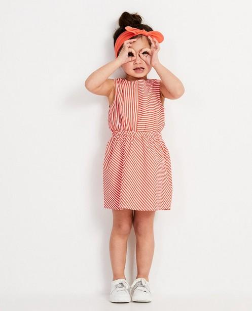 set: jurk, vest, haarbandje - In roze - rood - JBC