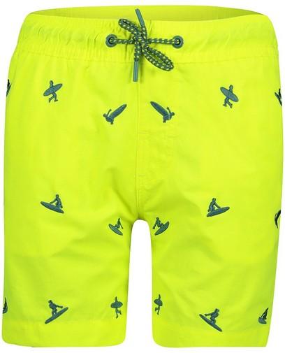 Short de natation jaune fluo