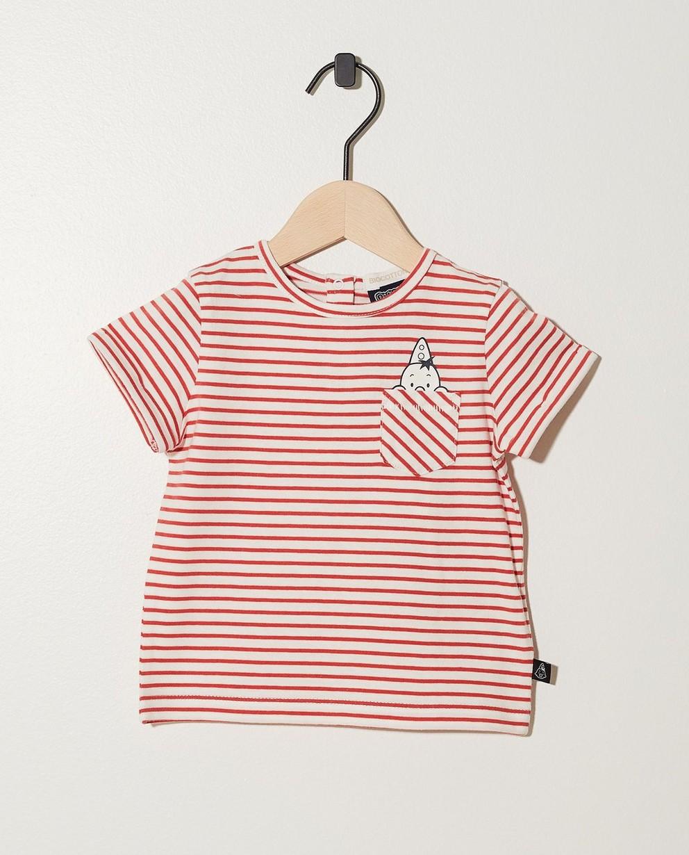T-shirt en coton bio Bumba - avec des rayures - Bumba