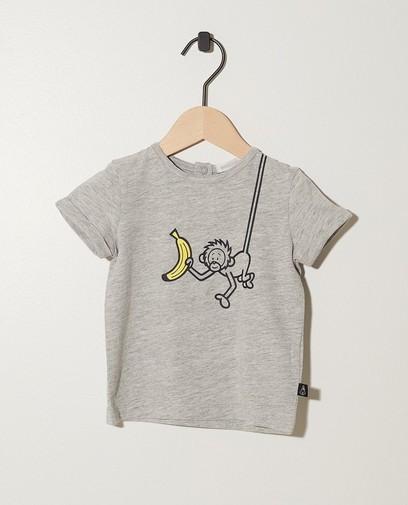 Grijs T-shirt van biokatoen Bumba