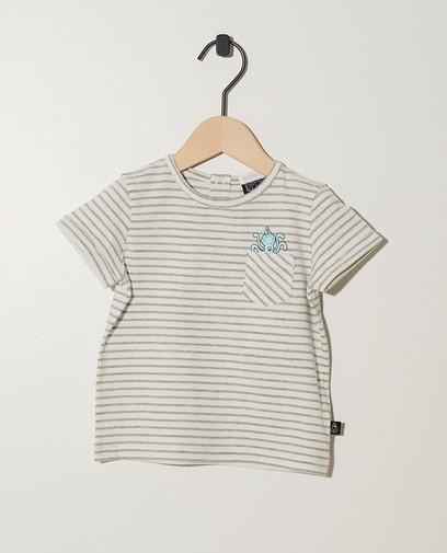 Wit T-shirt van biokatoen Bumba