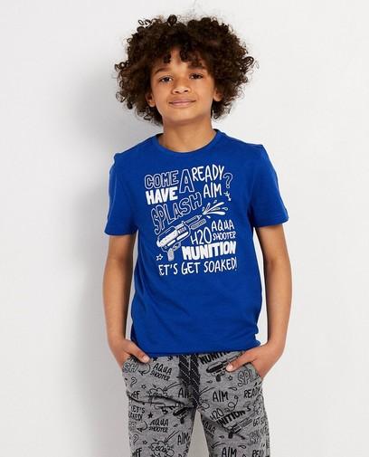 T-shirt bleu, imprimé BESTies