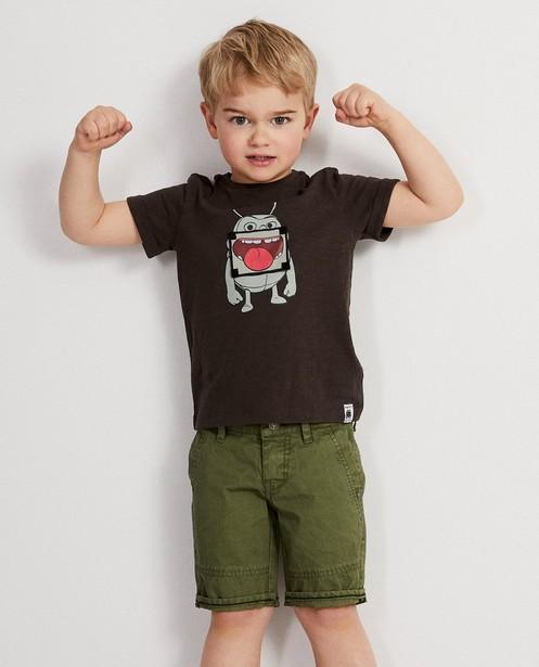 T-shirts - bruin donker - Donkerkaki T-shirt met print Maya