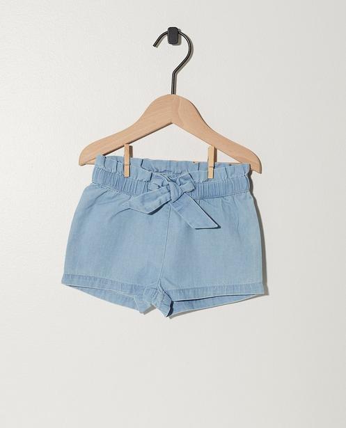 Short bleu avec un nœud papillon - paperbag waist - JBC
