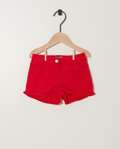 Short rouge avec des ruches - en coton - JBC