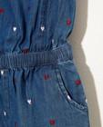 Combinaisons - Jeans jumpsuit met hartjes