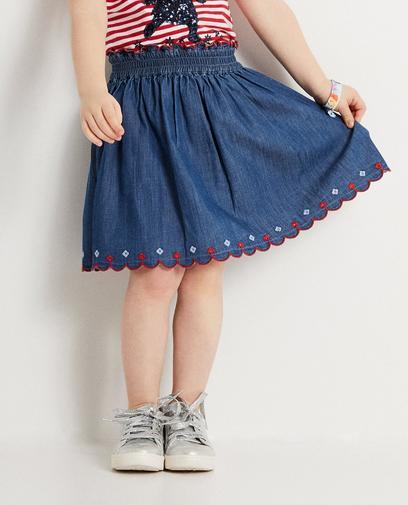 Blauwe jeansrok