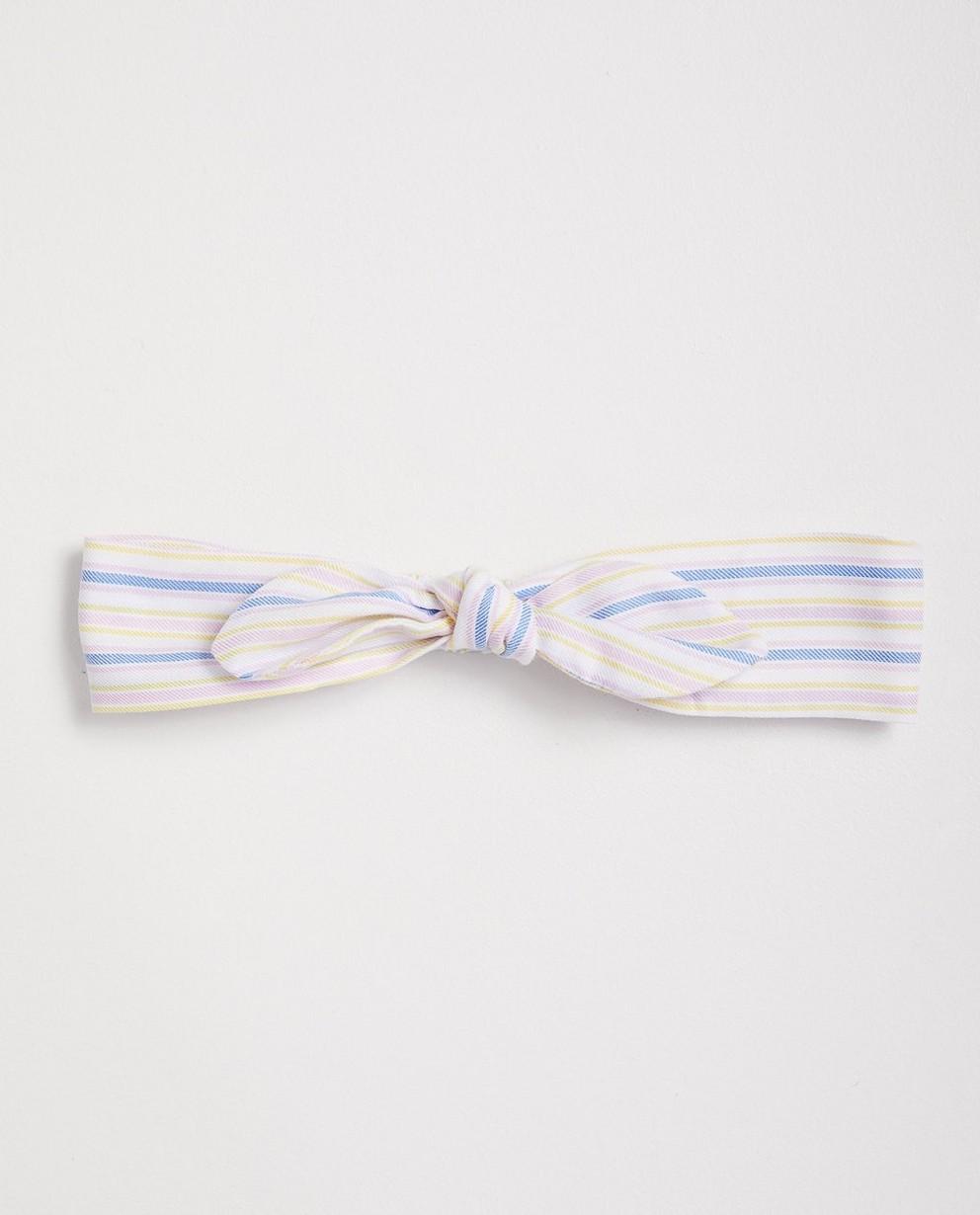 Bandeau rayé Maya - blanc - jaune - rose - bleu - JBC