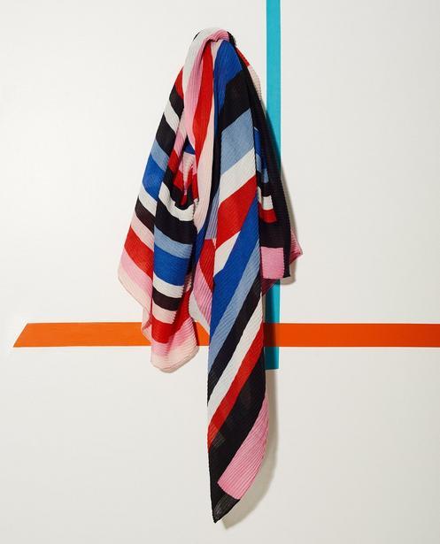 Écharpe color block - plissée - JBC