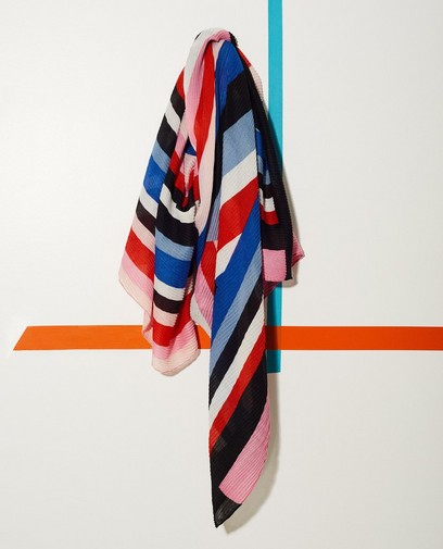 Écharpe color block