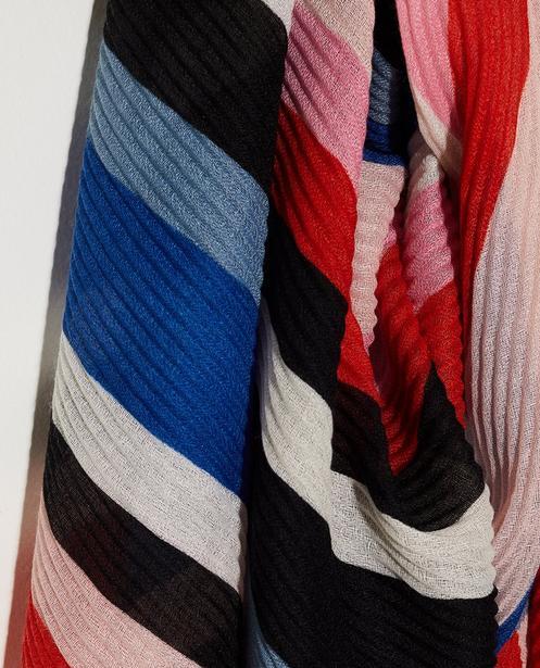 Bonneterie - plum - Écharpe color block